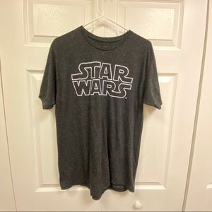 Black speckled Star Wars short sleeve T-shirt mens